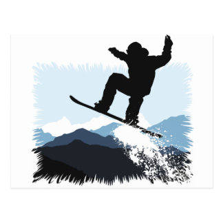 Snowboarder Action Jump Postal