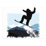 Snowboarder Action Jump Tarjetas Postales