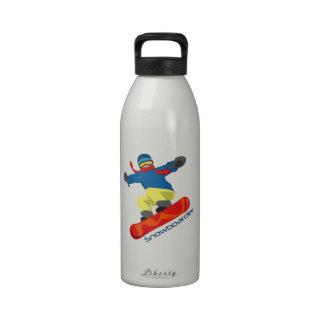 Snowboarder Botella De Agua