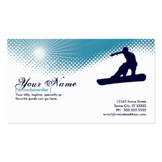 snowboarder altísimo tarjetas de visita