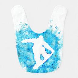 Snowboarder Baby Bib