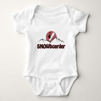 Snowboarder Baby Bodysuit