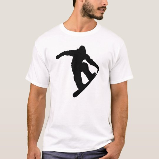 Snowboarder Black Silhouette T-Shirt