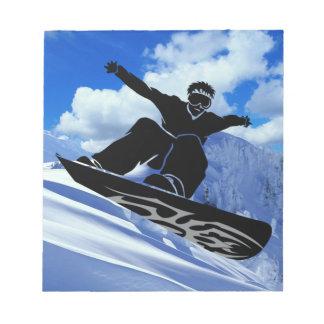 snowboarder blocs de notas