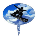 snowboarder cake topper