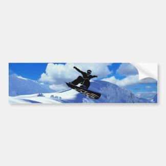 snowboarder pegatina de parachoque