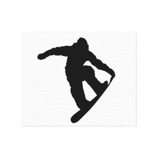 Snowboarder Stretched Canvas Prints