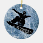 snowboarder christmas tree ornaments
