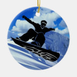 snowboarder christmas tree ornaments