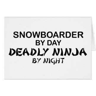 Snowboarder Deadly Ninja by Night Cards