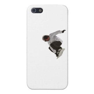 Snowboarder del estilo libre iPhone 5 funda