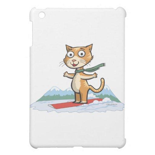 Snowboarder del gato
