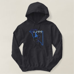 Snowboarder Embroidered Hoodie