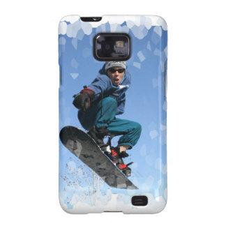 Snowboarder en caso de la galaxia de Samsung de la Samsung Galaxy S2 Funda