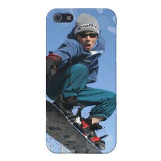 Snowboarder en el caso del iPhone 4 de la nieve iPhone 5 Carcasa