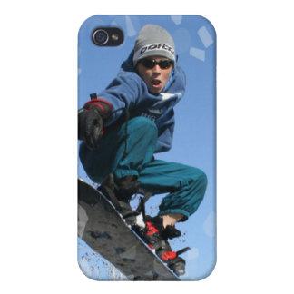Snowboarder en el caso del iPhone 4 de la nieve iPhone 4 Carcasa