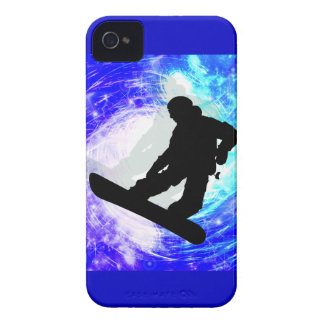 Snowboarder en la desorientación iPhone 4 funda