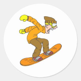 Snowboarder enojado pegatinas
