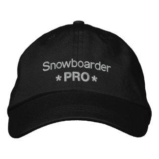 Snowboarder favorable gorra bordada