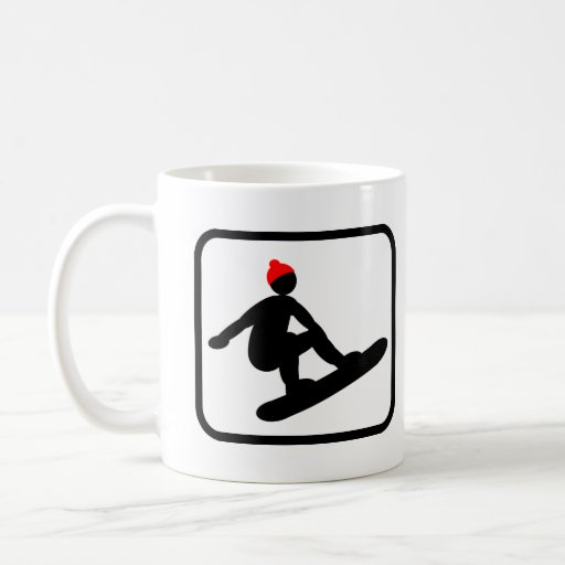 Snowboarder favorable tazas