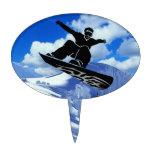 snowboarder figura para tarta