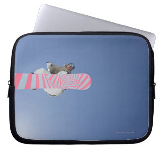 Snowboarder Flying Through the Air Computer Sleeve