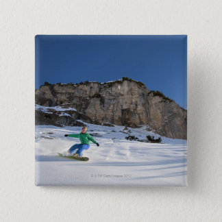 Snowboarder free riding button