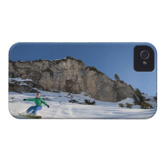 Snowboarder free riding Case-Mate iPhone 4 case