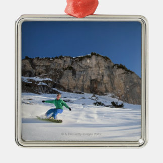 Snowboarder free riding ornaments