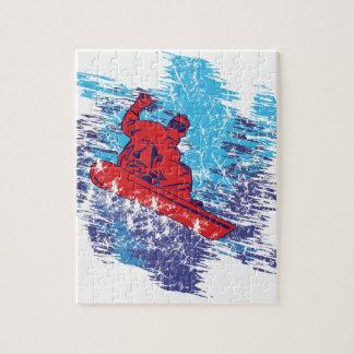 Snowboarder fresco puzzle