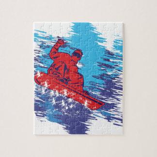 Snowboarder fresco puzzles