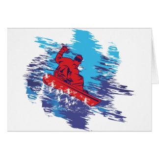 Snowboarder fresco tarjetón