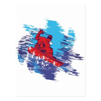 Snowboarder fresco postal