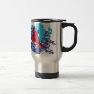 Snowboarder fresco taza de viaje