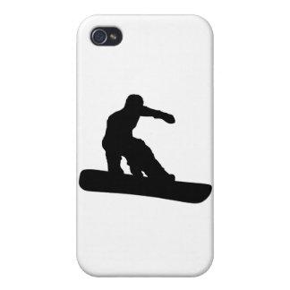 Snowboarder iPhone 4 Carcasas