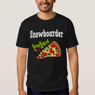 Snowboarder (Funny) Pizza T Shirt