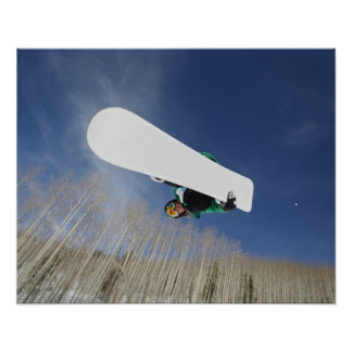 Snowboarder Getting Vert Poster