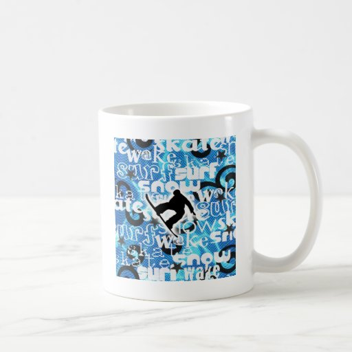 Snowboarder - Gone Boarding Gear Coffee Mug