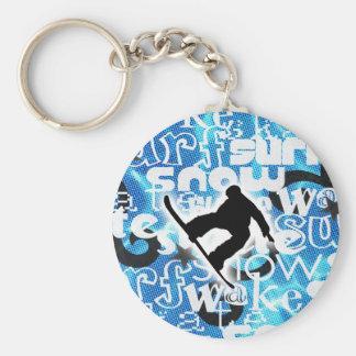 Snowboarder - Gone Boarding Gear Key Chains