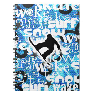 Snowboarder - Gone Boarding Gear Notebook