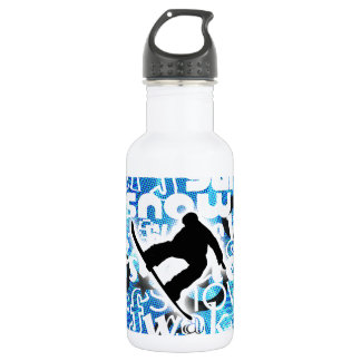 Snowboarder - Gone Boarding Gear Water Bottle