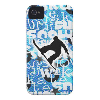 Snowboarder - ido a subir al engranaje iPhone 4 Case-Mate carcasa