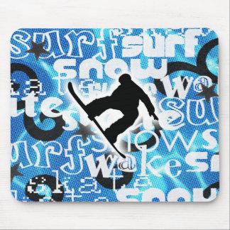 Snowboarder - ido a subir al engranaje tapetes de ratones