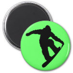 Snowboarder Imán Redondo 5 Cm