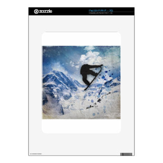 Snowboarder In Flight Skins For iPad