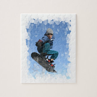 Snowboarder in Snow Puzzle