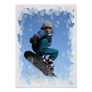 Snowboarder in the SNow Print