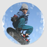 Snowboarder in the Snow Stickers
