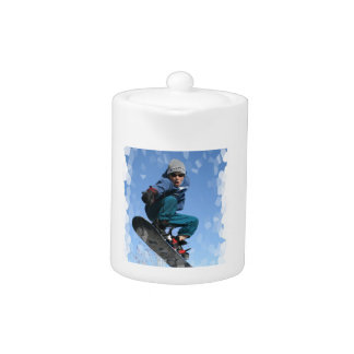 Snowboarder in the Snow Teapot