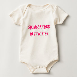 SNOWBOARDER IN TRAINING ROMPERS